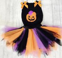 Girl's Halloween Pumpkin Outfit T-Shirt and Tutu Skirt Fancy dress Costume Party