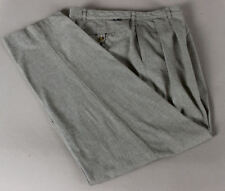 Vtg TOMMY HILFIGER Gray Micro Houndstooth Pants 34X32 Pleated Front Straight Leg