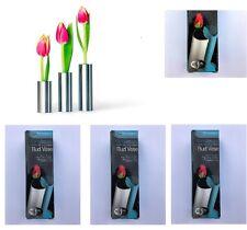 Stainless Steel Bud Vase Flower Rose Holder Home Decor Mirror Finish Set Of 2