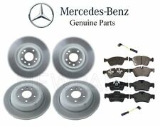 For Mercedes W164 W251 Front & Rear Brake Disc Rotors w/ Pads & Sensors OES Kit