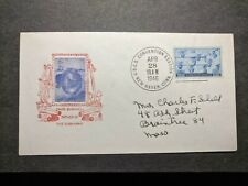 Submarine TURTLE Naval Cover 1946 DAVID BUSHNELL Cachet USCS Convention