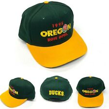 VTG Vintage 1995 Oregon Ducks Rose Bowl Snapback Hat Made In USA NCAA Rare