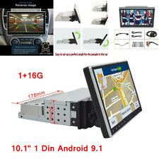 """10.1"""" Android 9.1 Single 1Din Car Stereo Radio GPS Wifi OBD2 Mirror Link Player"""
