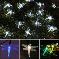 5/10m Solar Power Outdoor Dragonfly LED Fairy Lights | Garden Christmas Decor