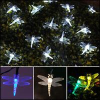 5/10m Solar Power Outdoor Dragonfly LED Fairy Lights | Garden Christmas Decor