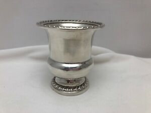 """Antique Sterling Silver 2 1/2"""" tall toothpick holder Stamped  M504 Sterling"""