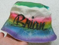 Brian Turtle Graphic Bucket Hat Mens Mans Cap J Hats 100% Cotton Rainbow Pride