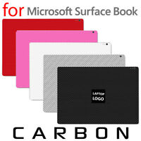 Textured Carbon Fiber Skin Microsoft Surface Book Protection Sticker Wrap FULL