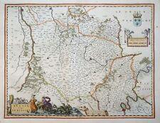 Europe France Belsia vulgo LA BEAUSSE PARIS LOIRE BLASON Dragon Blaeu 1642