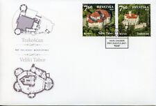 Croatia 2017 FDC Castles Europa Veliki Tabor Trakoscan Castle 2v Cover Stamps