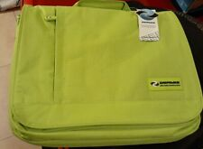 Dermis Cases Green Messenger Laptop Bag Briefcase with Removable Strap