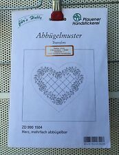 fur's hobby iron on fabric transfer abbugelmuster European brand unused Heart