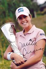 Paula Creamer, American LPGA Tour, Solheim Cup, signed 12x8 inch photo. COA.
