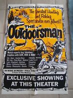 Vtg Movie Poster 1 Sheet 1960's The Outdoorsman Hunting & Fishing Documentary