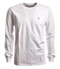 TOMMY Hilfiger Slim Fit T-Shirt Langarm Rundhals weiß GR. L