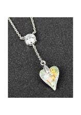 Genuine Swarovski Necklace Clear Heart Pendant By Equilibrium Jewellery