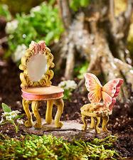 Miniature Dollhouse Fairy Garden - Fairy Vanity and Chair Set - Accessories