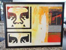 "1997 Obey GIANT Shepard Fairey "" GANGSTER NONSENSE "" ART PRINT 18x24 S/N 23/75"
