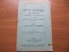 Revue Médicale de Louvain N°11 1933 La fonction endocrine du testicule