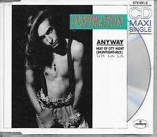 INSPIRATION - Anyway CD SINGLE 3TR (MERCURY) Art Rock 1989 West Germany