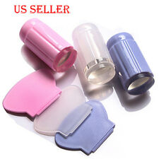 See Through Manicure Nail Stamper Kit +5Pc DIY Image Plates Free Shipping