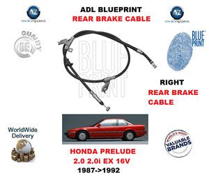 FOR HONDA PRELUDE 2.0 EX 16V 1987-1992 REAR RIGHT HAND BRAKE CABLE 47510SF1003