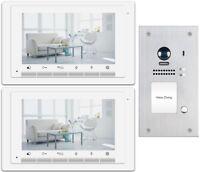 Video Türsprechanlage Klingelanlage 2 Draht Bus Fischaugen Kamera 170°