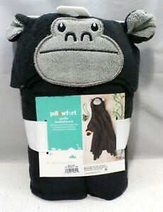 Gorilla Hooded Bath Towel - Black