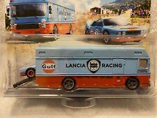 Hot Wheels Team Transport Lancia Rally 037 & Euro Hauler Real Riders