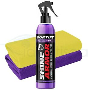 Shine Armor Fortify Quick Coat Wash Car Wax + 2 x Microfibre Cloth
