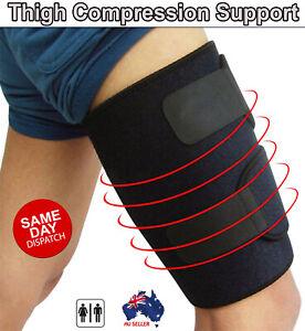 Thigh Support Compression Sleeve Brace Hamstring Wrap Groin Quad Leg Run Walk