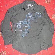 Smart black long sleeved shirt age 10-11