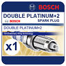 VW Golf Mk5 2.0 FSI 4 Motion 04-05 BOSCH Twin Platinum Spark Plug FR7HPP332W