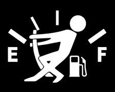 Gas Consumption Decal, sticker, JDM Funny Decal for Car, Windows, Outdoors, etc.