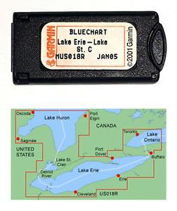 Garmin BlueChart  Lake Erie-Lake St. Clair MUS018R Data Card 010-C0032-00