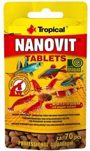 Tropical NANO AQUARIUM FISH FOOD DANIO, TETRA BETTA GUPPY SHRIMP CORY SNAIL FOOD