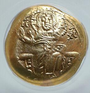 JOHN III Byzantine EMPIRE OF NICAEA Gold Coin JESUS CHRIST MARY ANACS i89613