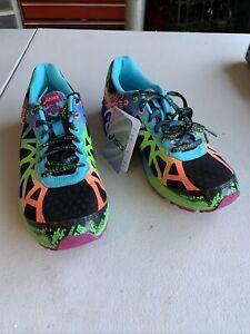 ASICS Gel-Noosa Tri-9 Women's Black Multicolor Running Shoes Size 8.5