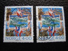 NORVEGE - timbre yvert et tellier n° 1000 x2 obl (A04) stamp norway (A)
