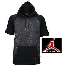 New Mens Medium NIKE Air Jordan VII Quilted Fleece SS Zip Hoodie $135 706729-011