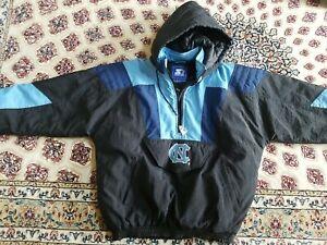 Vintage 90's Starter North Carolina UNC Tar Heels Puffer Jacket Size Mens Large