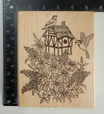 Embossing Arts Thatched Roof Birdhouse Rubber Stamp 339S