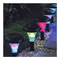 NEW 9 SOLAR POWERED COLOUR CHANGING CRYSTAL LIGHTS AMBIENT GARDEN LIGHTING OUT
