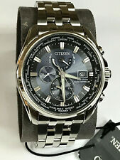 Citizen Eco-Drive AT9030-80L Radio Controlled World Time Men's Watch WARRANTY