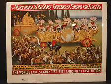 The Barnum & Bailey Greatest Show On Earth Poster Circus Asia 40 Horse Ponderous