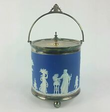 Antique Wedgwood Jasperware Biscuit Barrel circa 1883