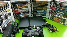 Playstation 2 console system Slim Black and games / memory card PS2