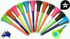 10 Quality Plastic & Rubber Top Golf Tees Durable & Bright Colors 83mm FREE POST
