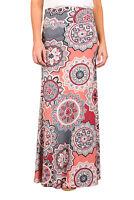 Grey Coral Bohemian Print Maxi Skirt Size 10-12
