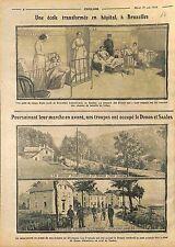 Hôpital-Ecole Bruxelles Bataille Liège Belgique Belgium/Donon Saales WWI 1914